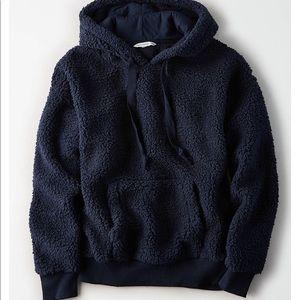 American eagle teddy Sherpa hoodie